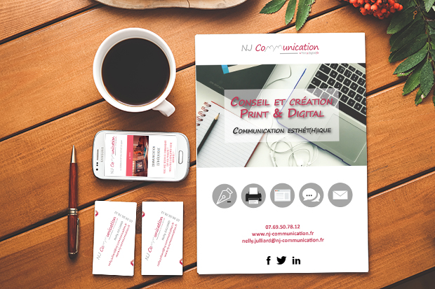 Supports d'application de l'identité visuelle, NJ Communication – St-Etienne