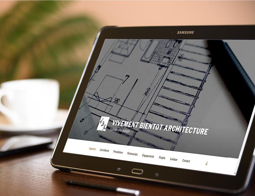 Refonte de site vitrine - Vivement Bientôt Architecture
